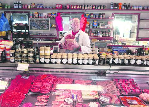 Colin Johnston a Butcher in Crowe's Butchers in North Street Belfast