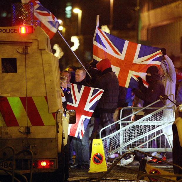 AMs are looking to bolster Belfast in the wake of Union flag protests