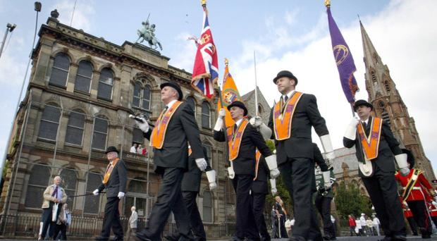 The Orange Order have said they may no longer give police notice of parades