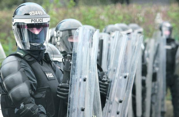 Riot duty: British police will help guard leaders at G8 meeting