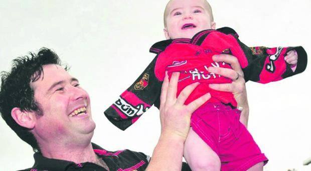Baby Daniel Grant with his father Brian