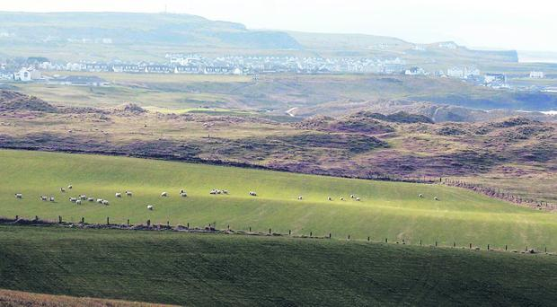 A view from the Causeway Road outside Bushmills looking over Portballintrae where the new golf resort is to be built