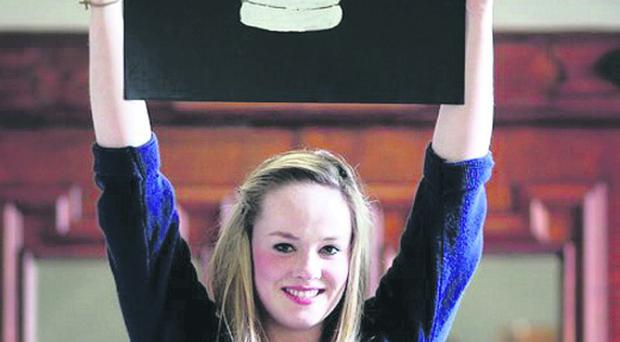 Hannah Molloy aged 15 from St Columba's in Donegal
