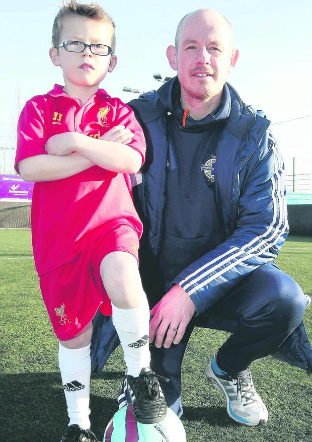 Steven Livingstone and his six-year-old son Seth
