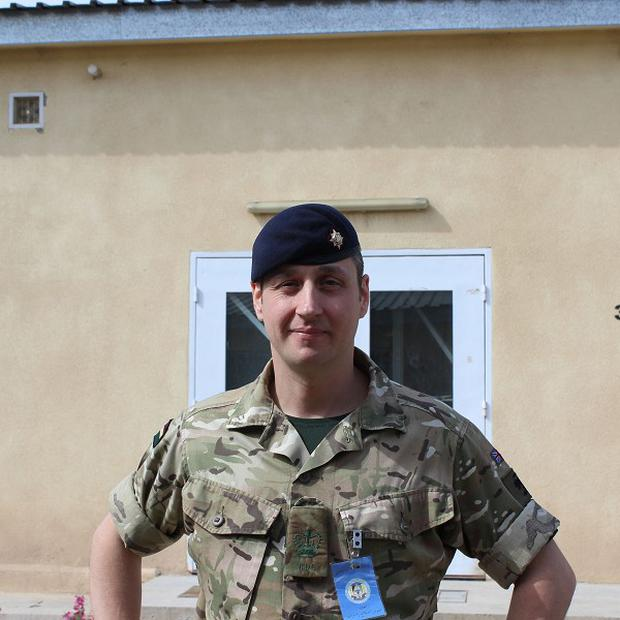 WO2 Steve McKinley 36, of Co Tyrone, serving with the Royal Dragoon Guards, who is mentoring Afghan police in Afghanistan