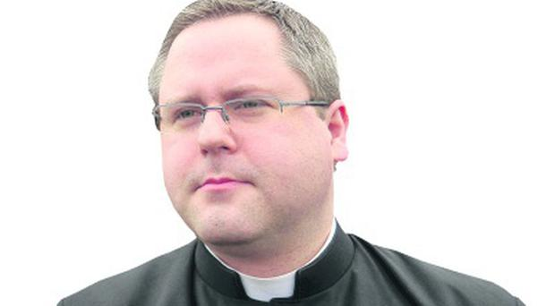 Fr Damian McCaughan, the curate at St Mary's on the Hill