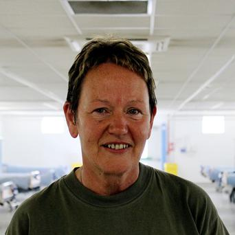 Major Marie Semple is serving as a nurse at the Field Hospital in Camp Bastion