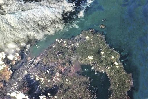 The picture of Belfast and the north Down coast tweeted by International Space Station commander Chris Hadfield