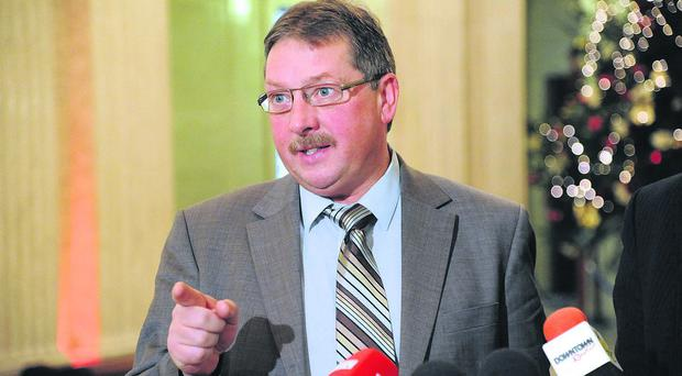 Starey-eyed: Sammy Wilson's anger isn't very British, says Robert McNeil