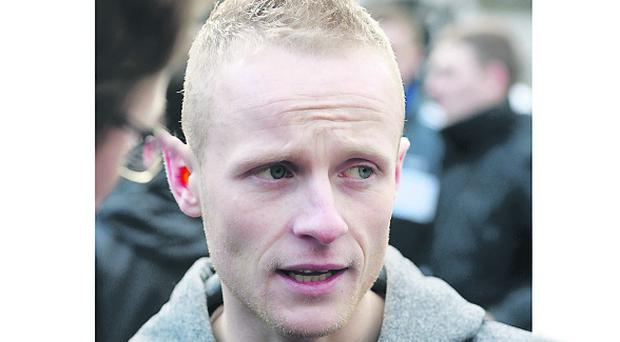 Jamie Bryson was given bail at Belfast Magistrates' Court this afternoon