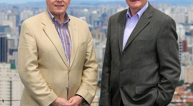 First Minister Peter Robinson and deputy First Minister Martin McGuinness in Sao Paulo during their five-day visit to Brazil