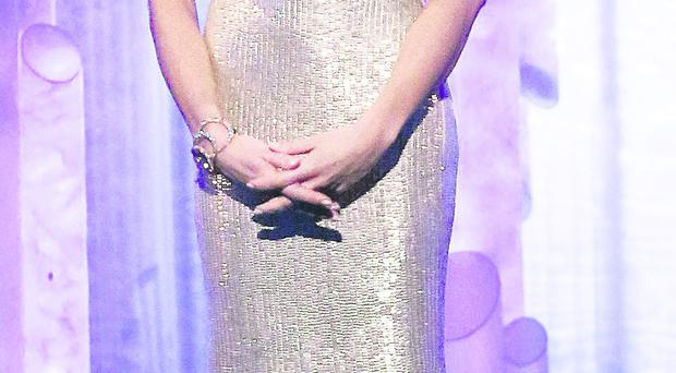 Looking good: Christine Bleakley on Sunday night's Dancing on Ice