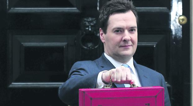 Chancellor George Osborne outside No 11 Downing Street