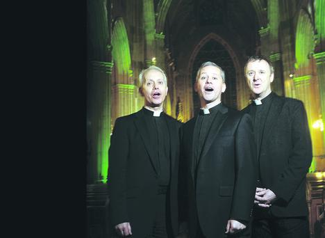 In demand: The Priests singing in St Patrick's Cathedral, Armagh
