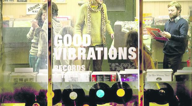 'Good Vibrations' Starring Richard Dormer as Terri Hooley. Directed by Lisa Barros D'Sa and Glenn Leyburn. Written by Colin Carberry and Glenn Paterson. Filmed in Belfast Aug/Sept 2011.