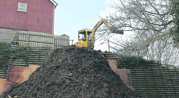 Residents of Barban Hill in Dromore were evacuated from their homes after their back gardens subside