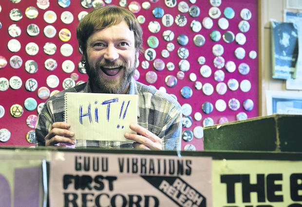 Richard Dormer as Terri Hooley in Good Vibrations