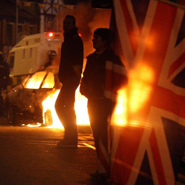 A total of 229 people have been arrested over the Union flag protests