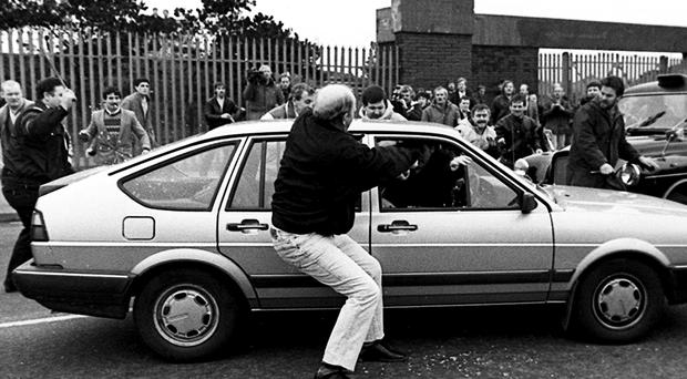 The two Army corporals stray into the funeral of IRA man Kevin Brady in Andersonstown in 1988 and are attacked by mourners