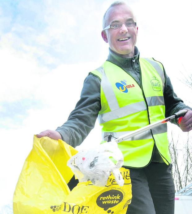 Frank Mitchell taking part in the Big Spring Clean