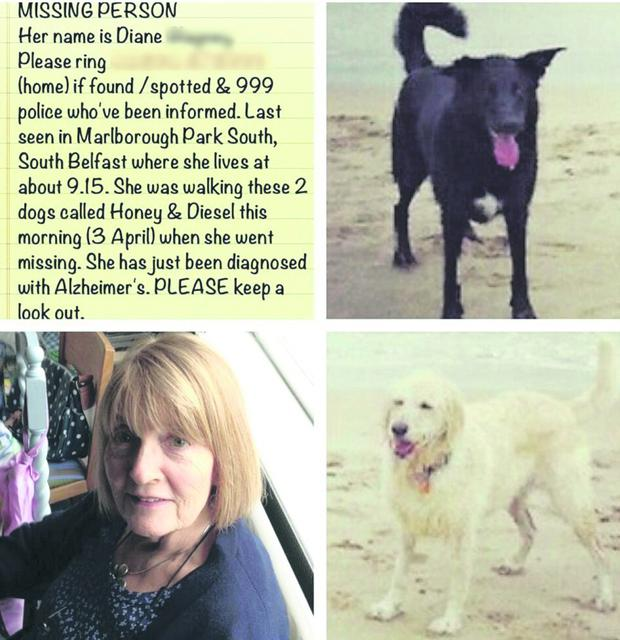 Diane from south Belfast who went missing yesterday