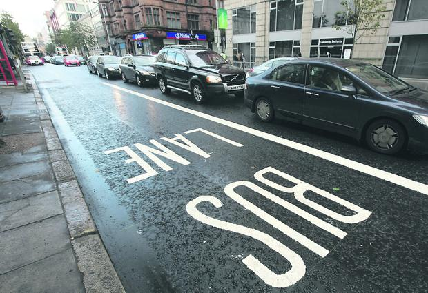 More taxis than expected may end up using Belfast's bus lanes, cycling bodies fear