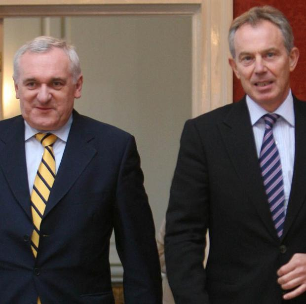 Former British premier Tony Blair and the then Republic of Ireland leader Bertie Ahern brokered the deal