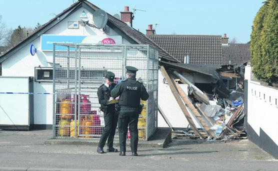 A JCB digger has been rammed into a post office during a burglary attempt in Moneyreagh