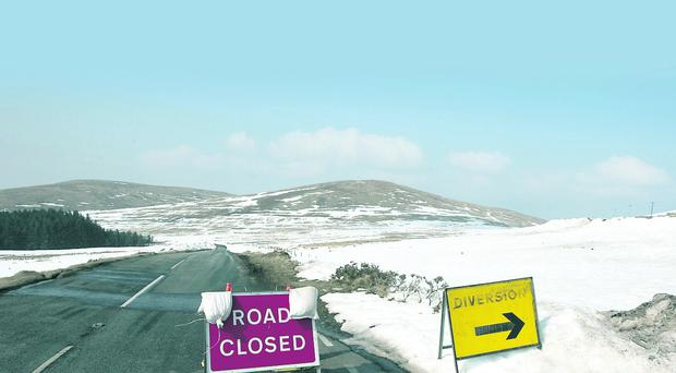 Kilkeel Road in Hilltown closed due to Mournes avalanche risk
