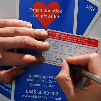 The number of people donating their organs upon death in Northern Ireland has almost doubled in the last five years