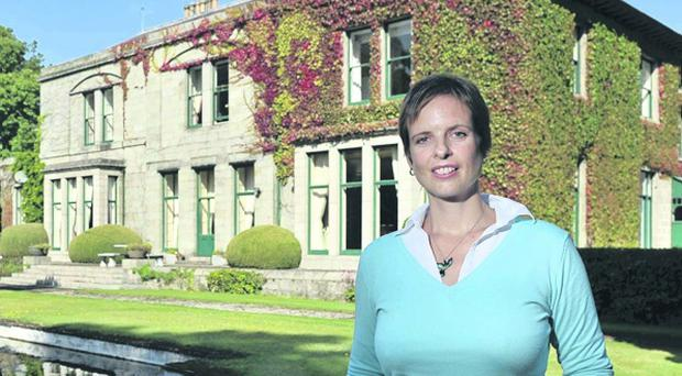Mourne House and its current owner, Marion Russell