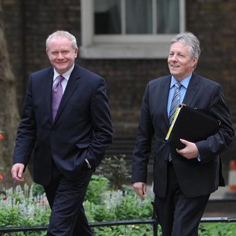 Deputy First Minister Martin McGuinness and First Minister Peter Robinson have held 'clear the air' talks