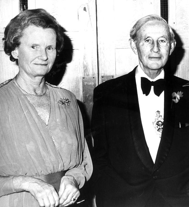 Lord Justice Gibson and his wife Cecily