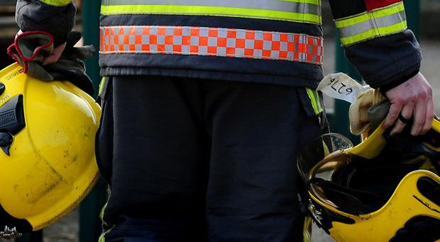 Firefighters have found the body of a man following a blaze in Co Antrim