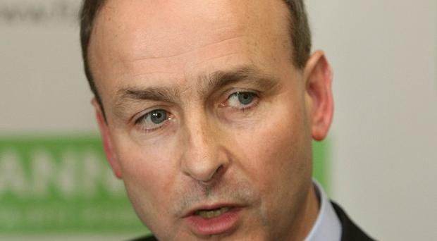 Fianna Fail leader Micheal Martin said Northern Ireland's ruling parties have created a dangerous vacuum