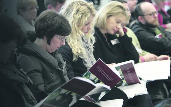 Guests at the launch of shared education report in Belfast