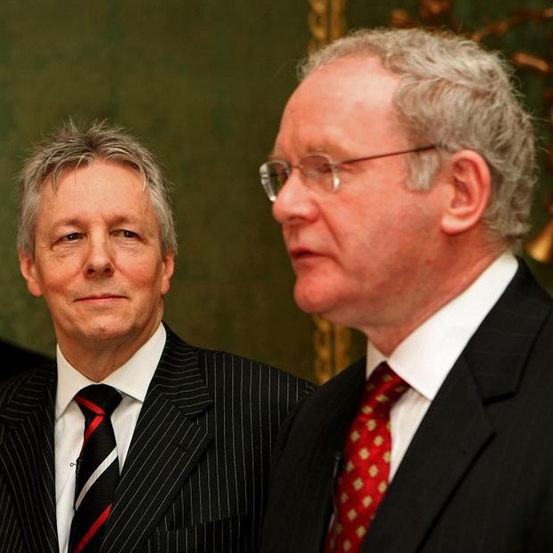 DUP leader Peter Robinson blamed the media for overplaying tensions