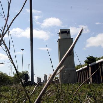 The derelict Maze prison on the outskirts of Belfast