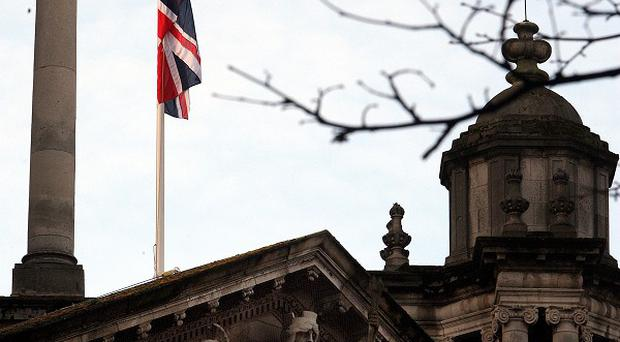A union flag protester involved in blocking a road later cut off his electronic tag and dumped it in his front garden - a court has heard