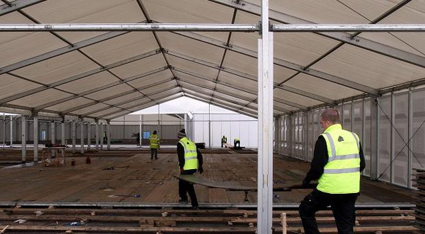 Marquee foundations at the new site for the Balmoral Show have been made from remnants of Maze Prison