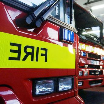 The fire service is dealing with a gorse fire in Co Tyrone