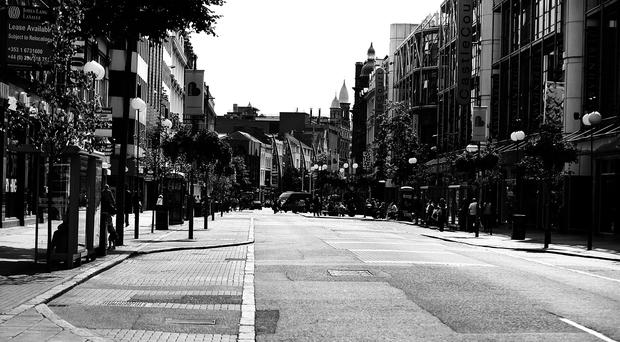 Belfast City Centre (Royal Avenue) looking empty on Friday