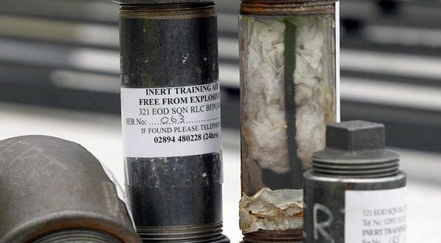 Disposal experts have defused two pipe bombs left at a house in Ballymoney, Co Antrim