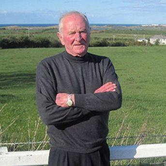 Former Manchester United goalkeeper Harry Gregg at his home on the outskirts of Coleraine, Co Londonderry