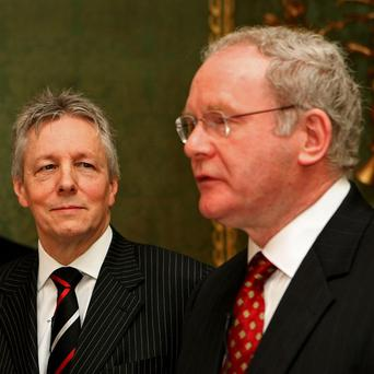 Peter Robinson and Martin McGuinness unveiled their 'shared future plans' today