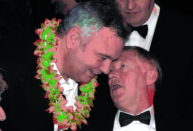 Alex Ferguson at Eamonn Holmes 50th birthday bash.