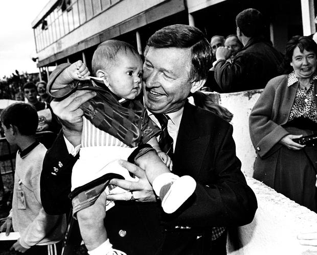 Sir Alex Ferguson may have been wondering if he had found the next Ryan Giggs in 16-week old Aaron Fenwick at Coleraine. BELFAST TELEGRAPH ARCHIVE