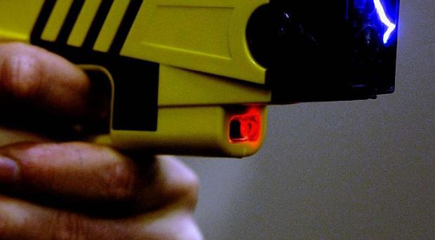 The Taser was deployed to restrain one of the youths at the property