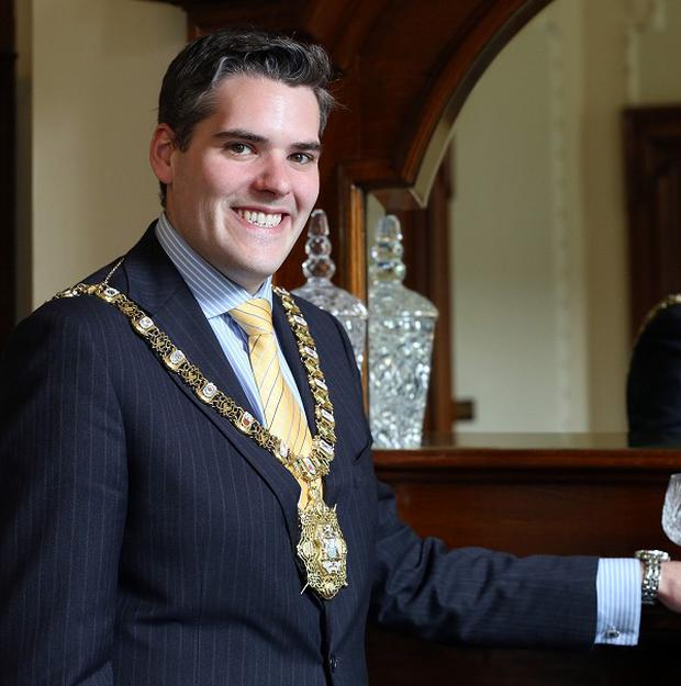 Belfast Lord Mayor Alderman Gavin Robinson at the City Hall