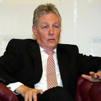 Peter Robinson is hoping for a deal on an economic pact with the UK Government